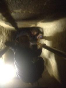 Inside the pyramids.