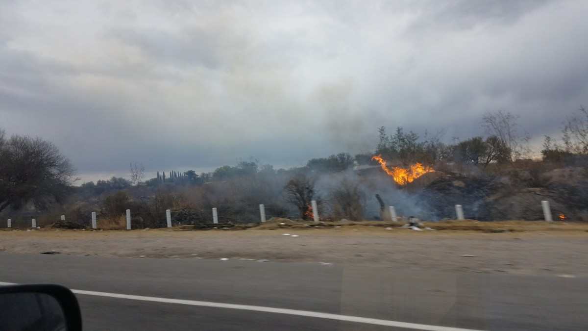Driving in Mexico: Fires Between Tepic and Guadalajara
