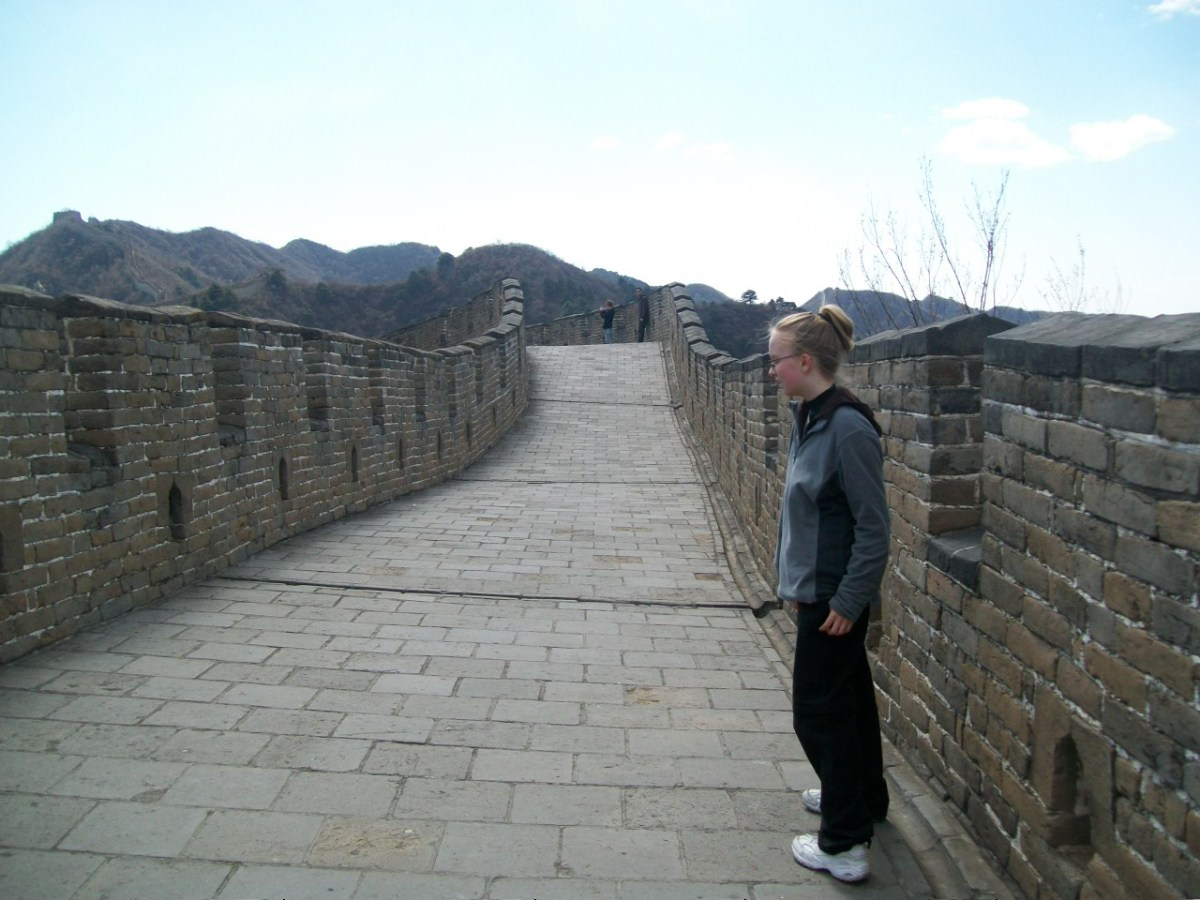 Things to Do in Beijing: Lydi Doing Taekwondo on the Great Wall