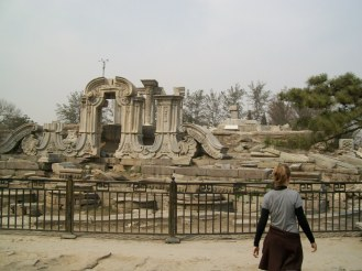 We spent most of our day looking for these ruins, seeing them beyond fences, while we were unable to get to them.
