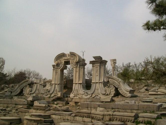 Ruins at Yuan Ming Yuan Park.
