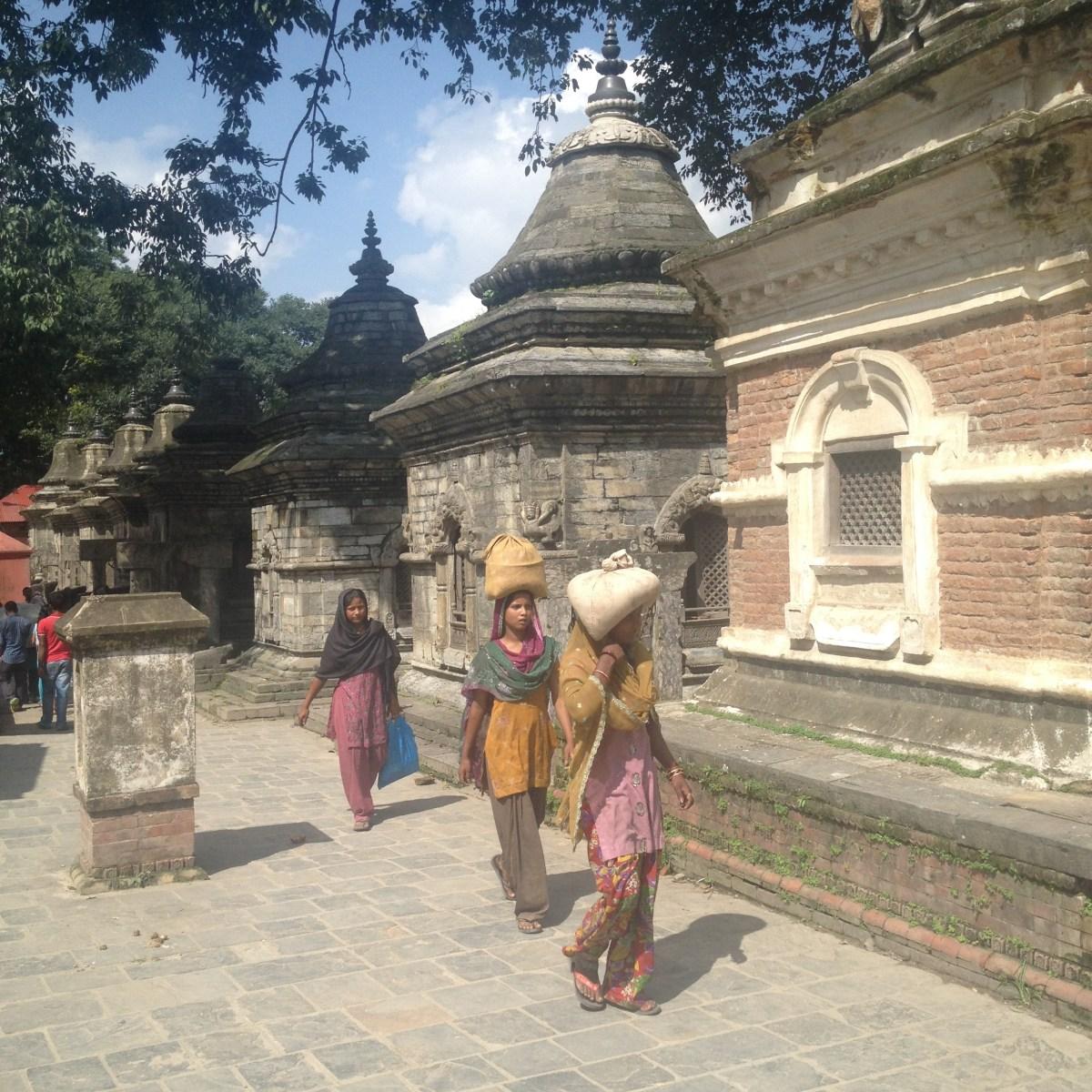Kathmandu Tourism: John Buys Water at Pashupatinath