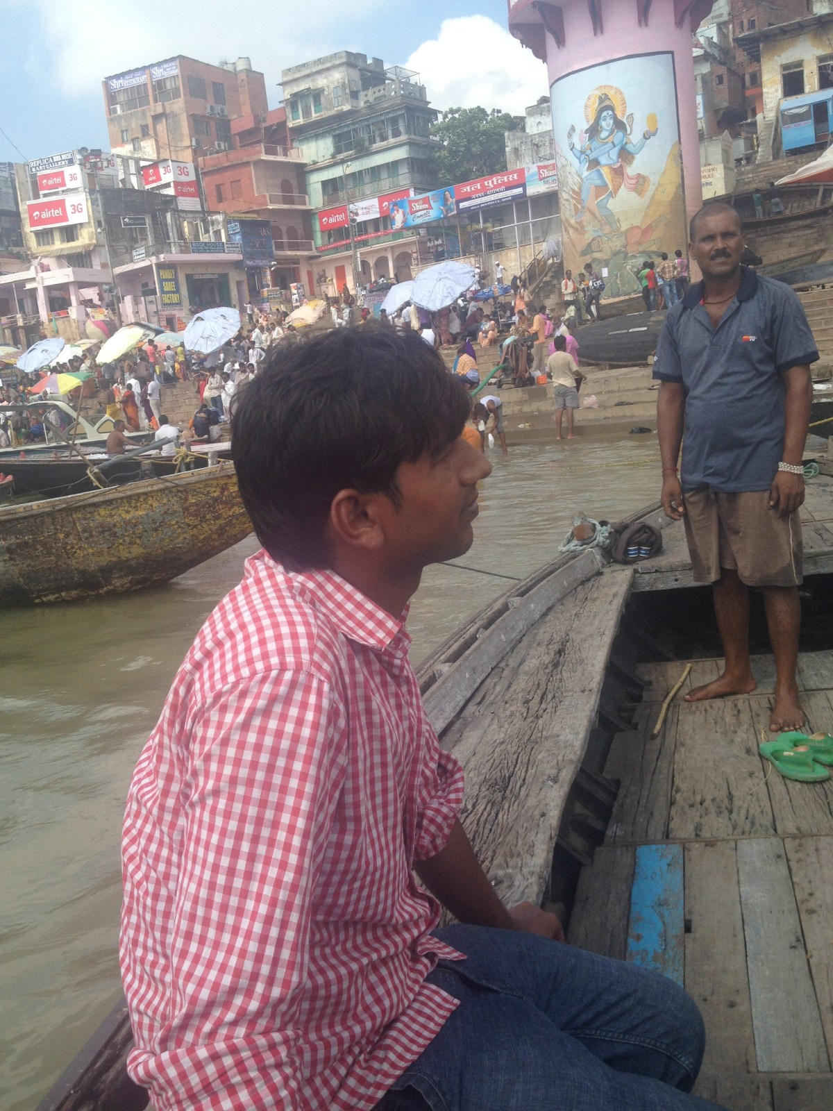 Varanasi Tourism: Ganges River View of the Ghats Part II