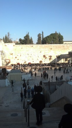 The Western Wall is also known as the Wailing Wall and the Kotel.