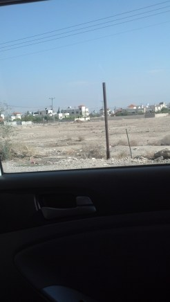 Driving in Jericho, Israel.