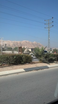 While we were driving through Jericho, we contemplated the tram that went to top of these mountains (the supposed place where Jesus had encountered the devil). We wondered how anyone would REALLY know if this was the place, since Jesus was alone and all.