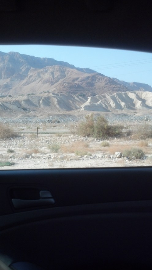 And another picture of the landscape around the Dead Sea in Israel.