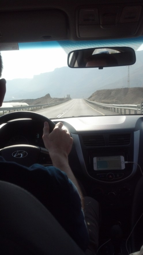 Driving near the Dead Sea in Israel was pretty straightforward and doable.