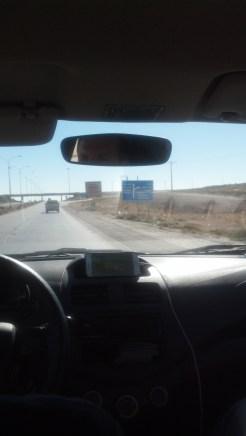 On the final stretch toward Wadi Musa in Jordan.