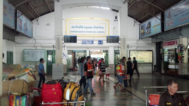Bangkok's Hualamphong Train Station is fairly organized and easy to navigate.