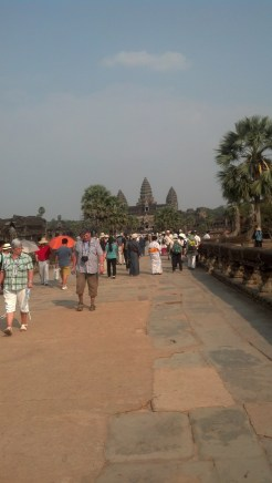 Our first look at Angkor Wat...