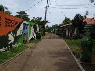 One of the streets in Tortuguero.