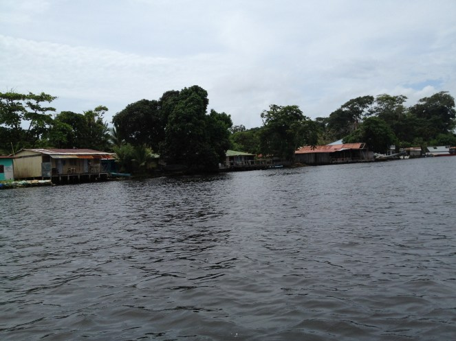 Arriving at Tortuguero.