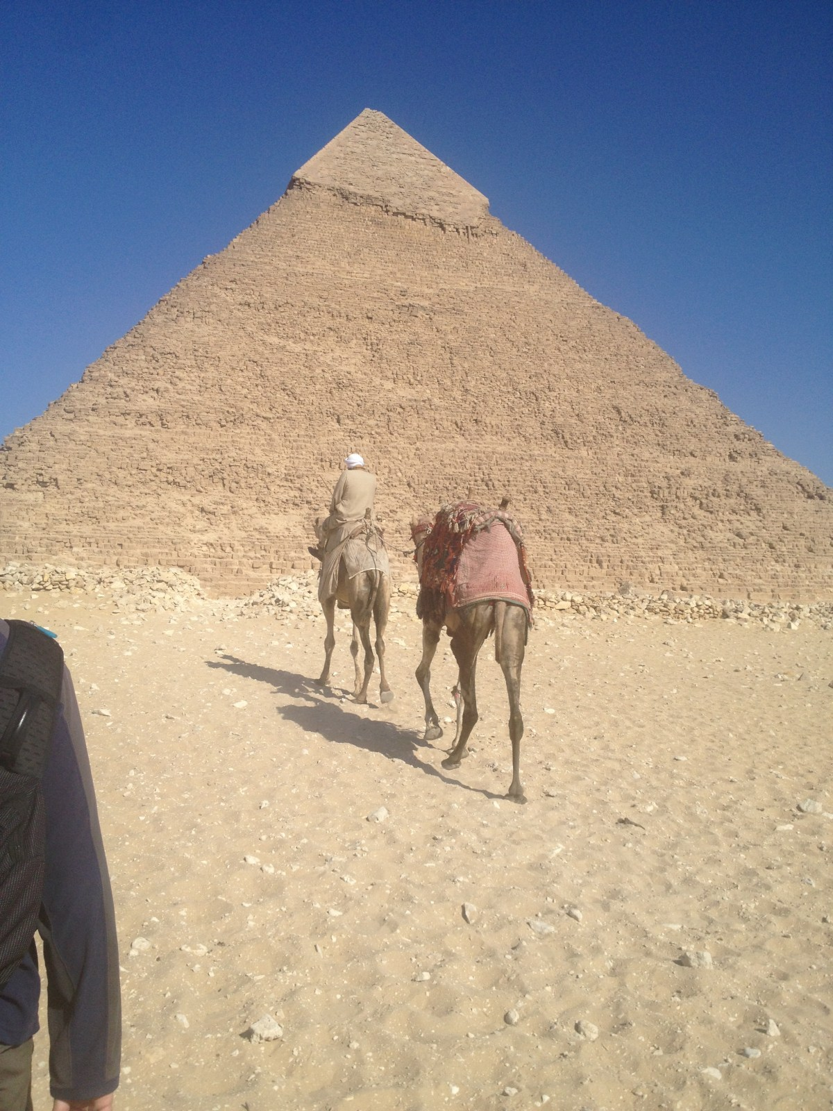 Egypt Tourism: Sandstorm at the Pyramids in Cairo