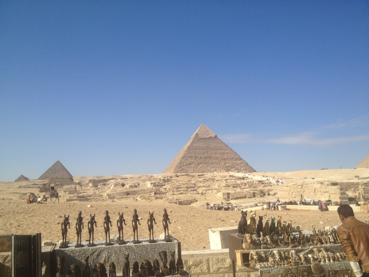 Places to Visit in Egypt: The Pyramids (View from Nazlet A-Sammam Apartment)