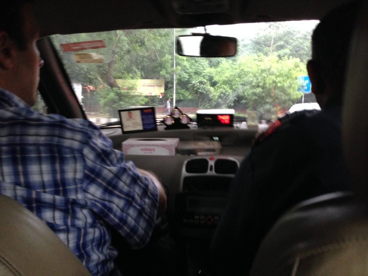 Delhi: Taxi Ride Through Monsoon Rains