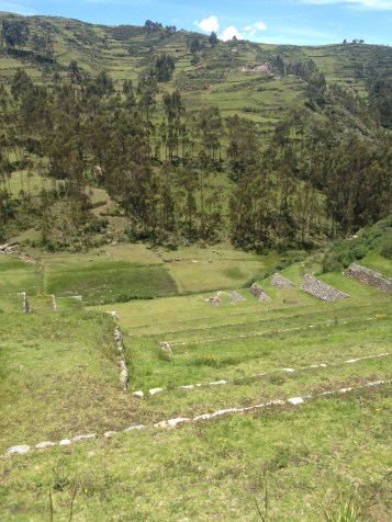 All around the the Saksaywaman ruins was farmland like this.
