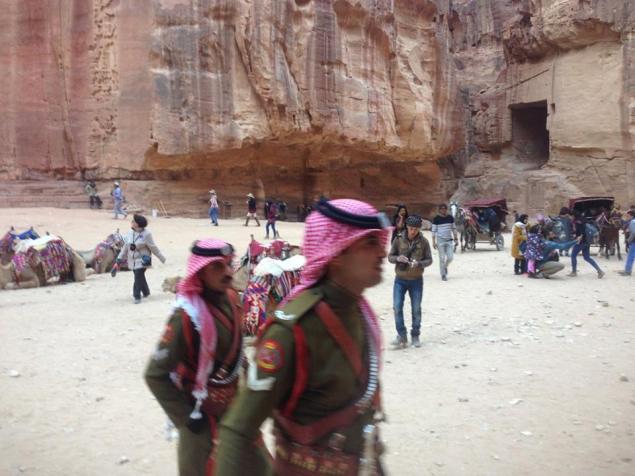 Petra Jordan Soldiers