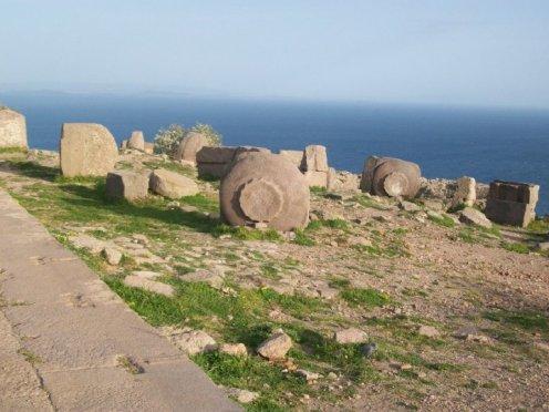 Overlooking the Aegean Sea.