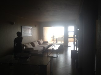 Another picture of the living room and dining room of our vacation rental in Johannesburg.