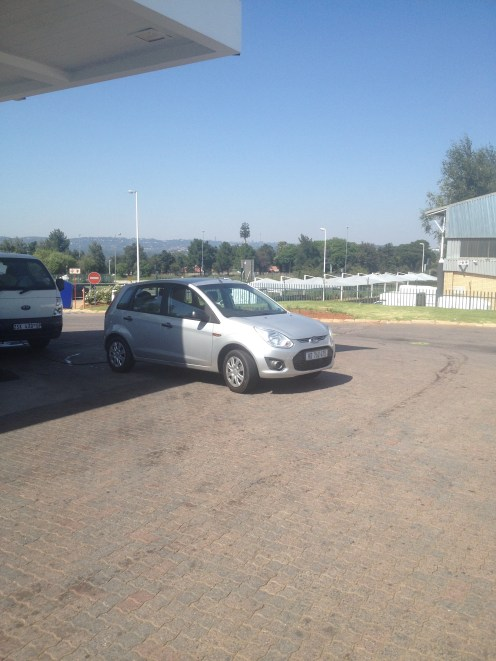 Our little rental car in Johannesburg.