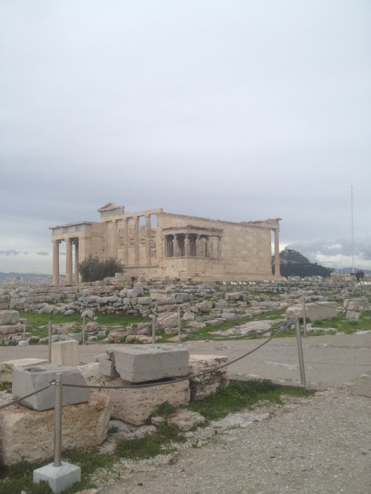 The Erechtheion at the Acropolis is a building that is famous, but not talked about very often. It sits on the same hill with the Parthenon.