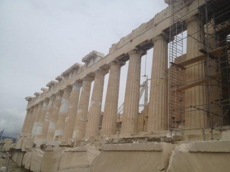 The Parthenon in Athens.