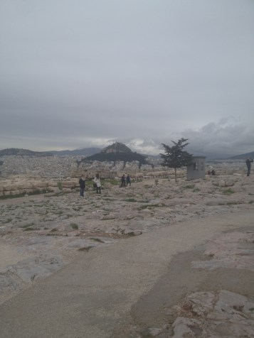 A more open area atop the hill at the Parthenon.