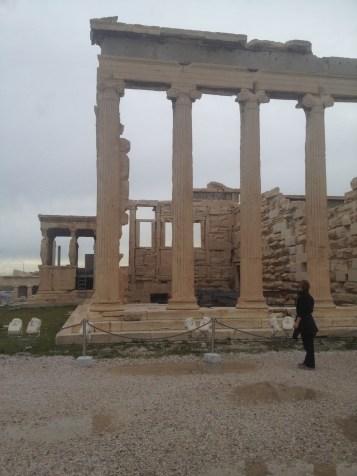 The Erechtheion in Athens, Greece.