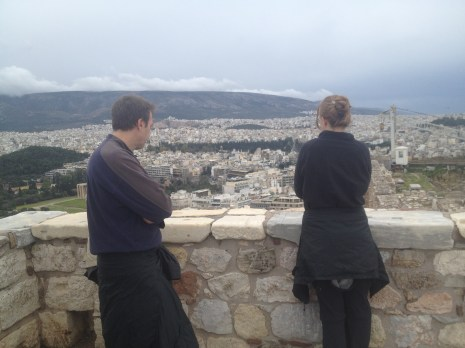 We spent some time looking out at Athens from the Parthenon.