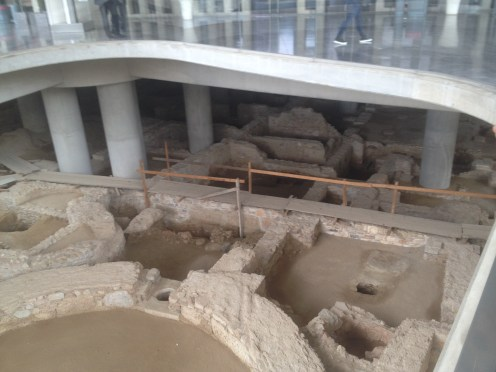 And another picture The ruins underneath the Acropolis Museum in Athens... SO cool.
