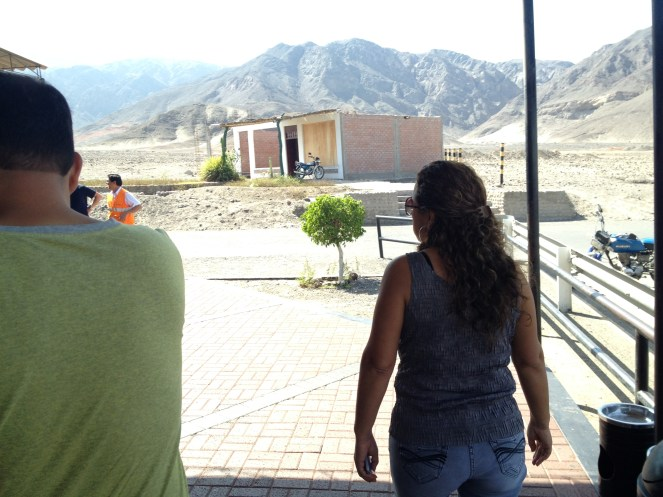 We arrived at the Nazca Lines in the morning for our flight.