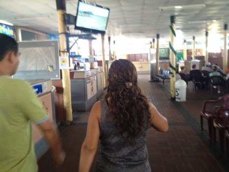 Inside the Nazca Airport, there are a number of different flight options available.