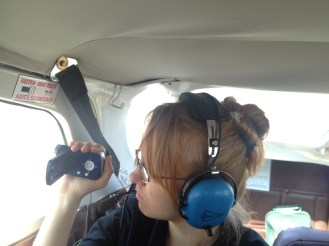 Lydian's job was to take some video footage of the flight.