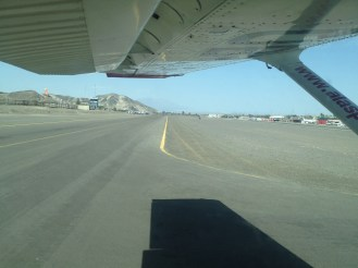 Taxi-ing on the runway at the Nazca Airport.