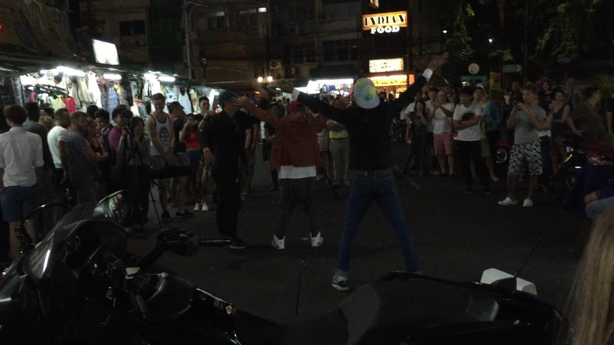 Khao San Road Performers in Bangkok, Thailand
