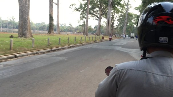 We took a tuk tuk back to our vacation rental in Siem Reap after visiting Angkor Wat.