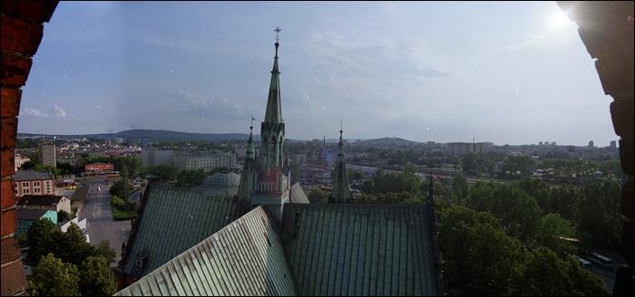 Südwest czyli widok na Salzburg / skyline of southern west Kielce (Salzburg direction)