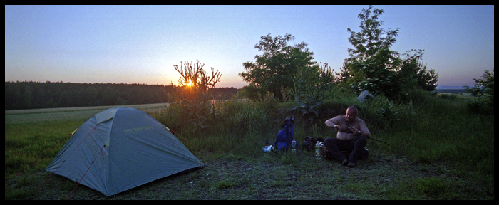 miejsce noclegu / a camp