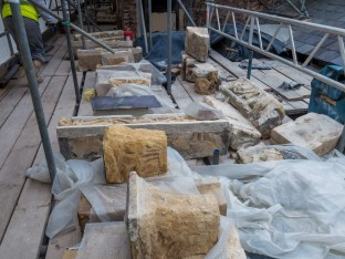 Original stonework removed for inspection - refit or reject?