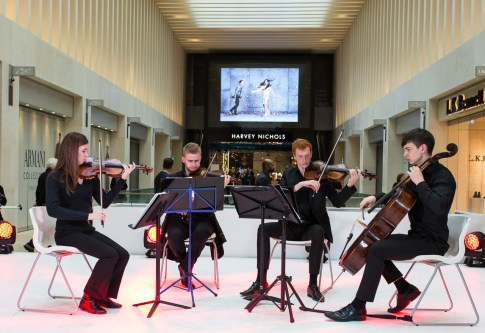 A string quartet provided some entertainment in the Urban Room.
