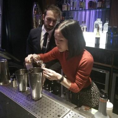 Ting made an Espresso Beluga Martini