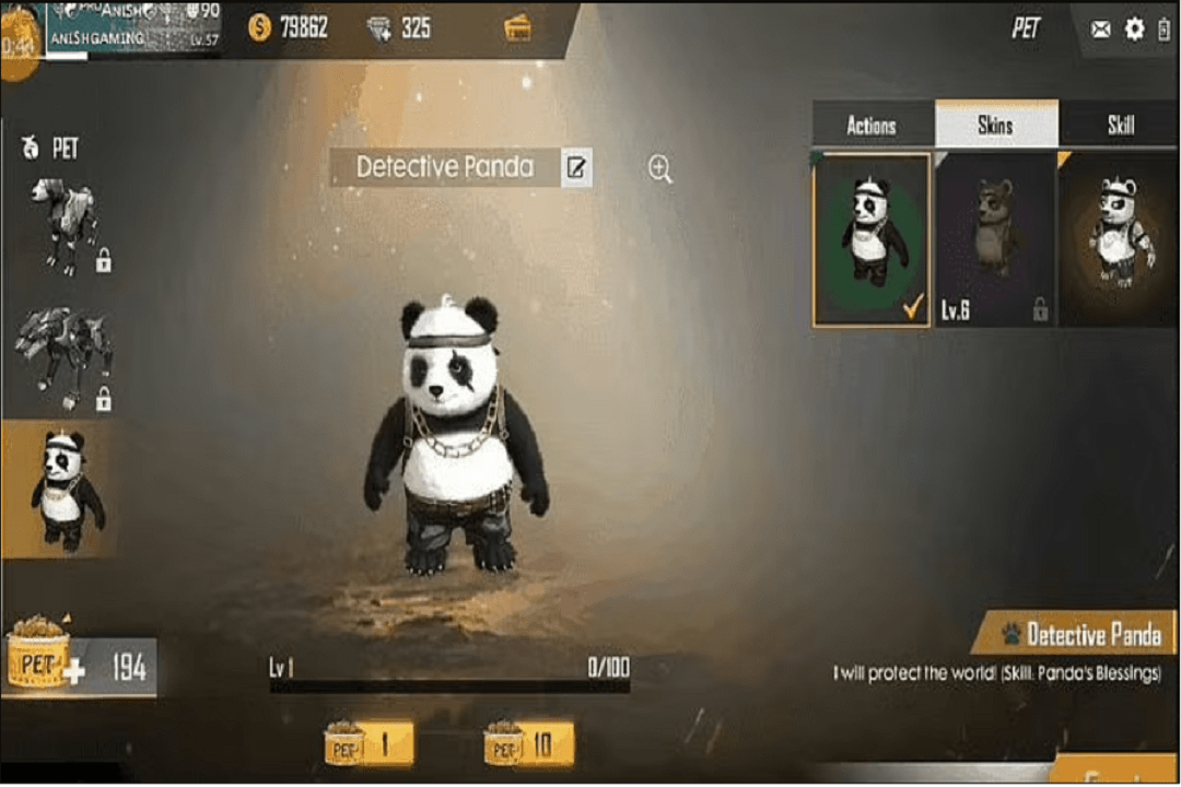 best name for panda in the free fire