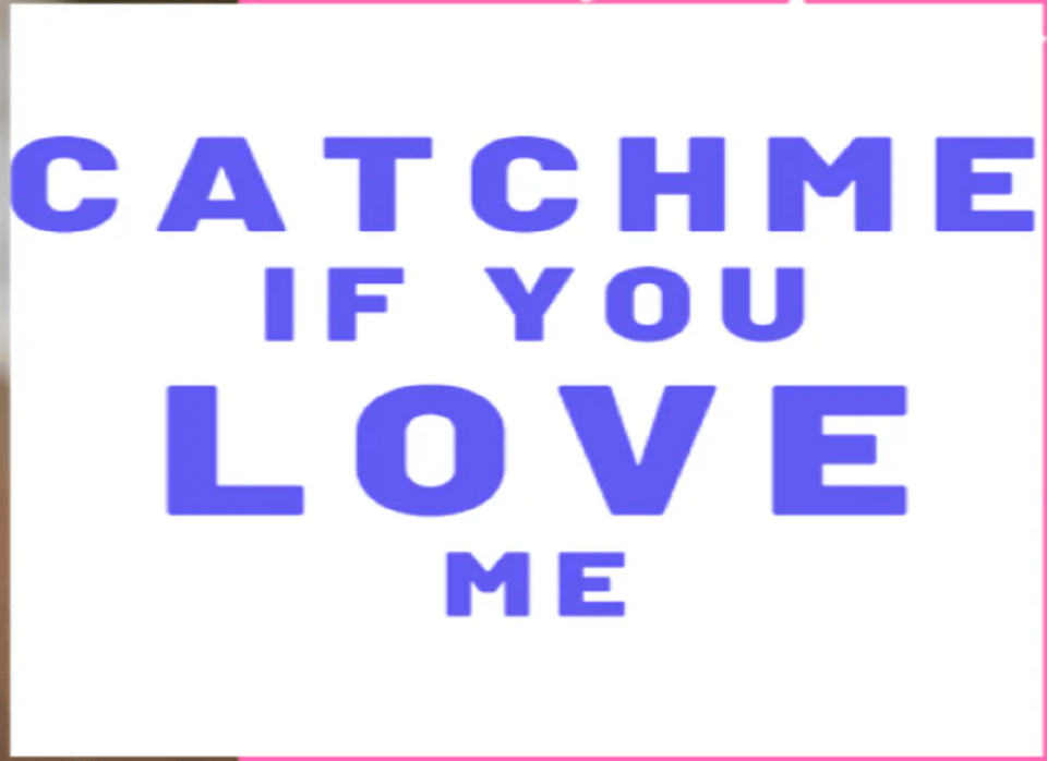 Image Of Catch Me If You Love Me Novel