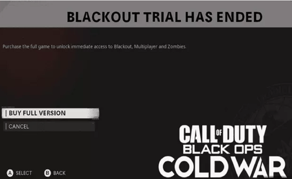 Image Of How To Fix Blackout Trial Has Ended Error.