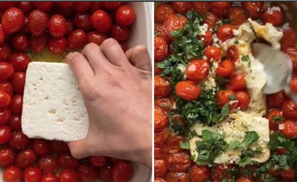 Image Of Feta Tomato Pasta TikTok