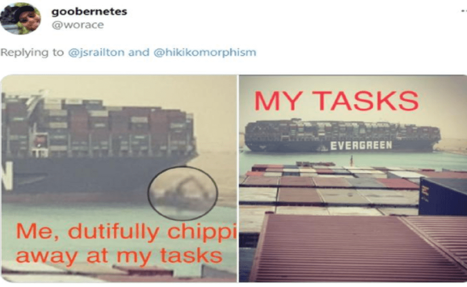Image Of What Is Evergreen Ship Meme