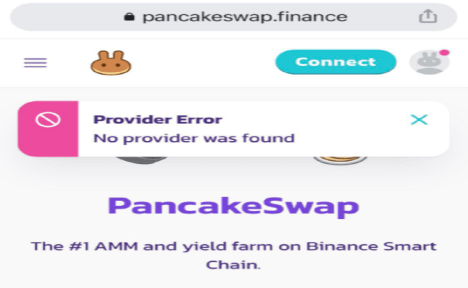 Image Of What Is Pancakeswap No Provider Was Found