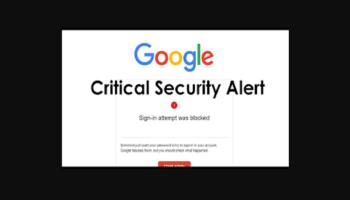 Google Security Alert Scam
