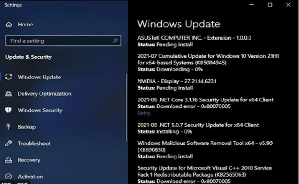 Image Of How To Fix Windows 10 Update Kb5004945 Error